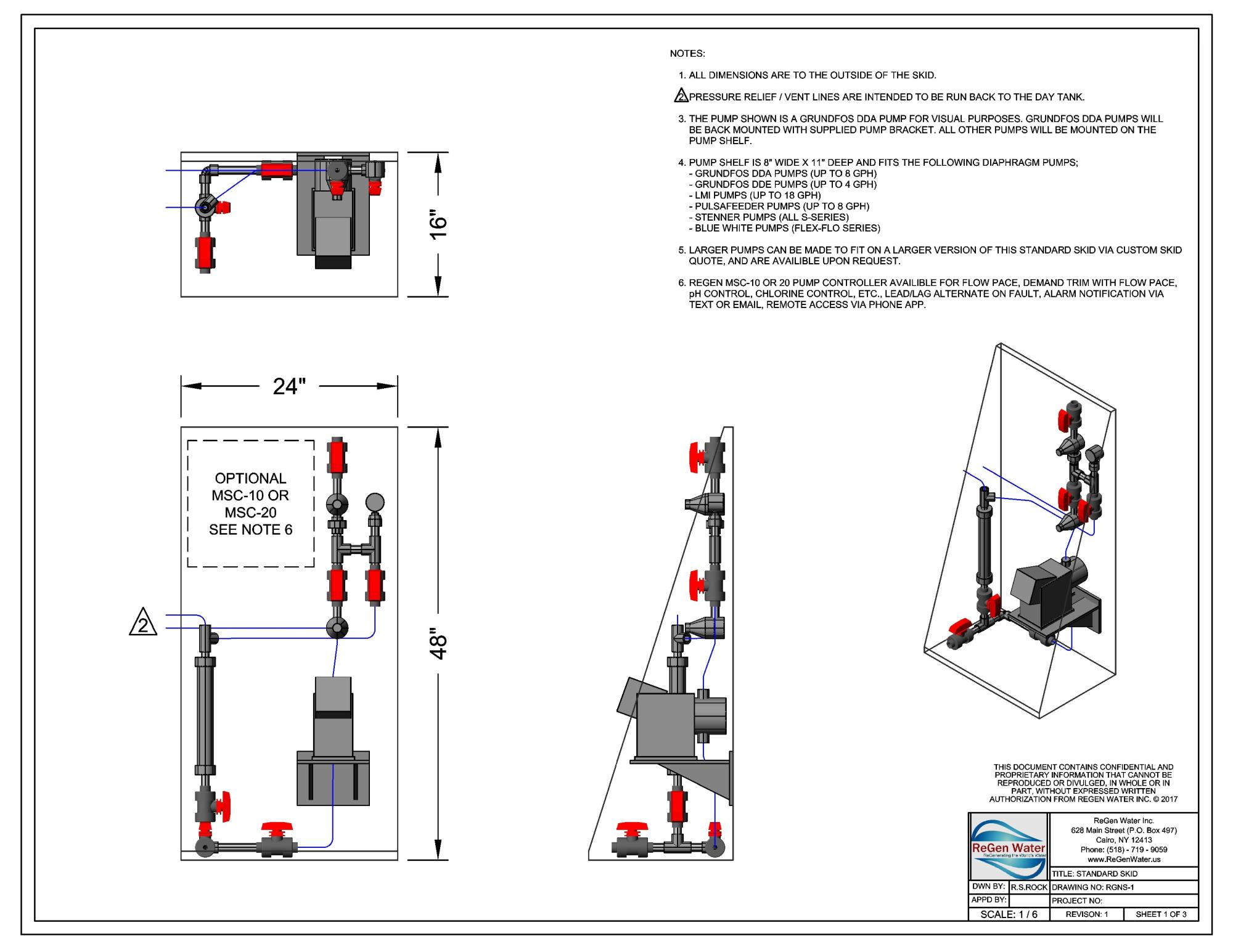 Pre-Assembled Chemical Feed Systems